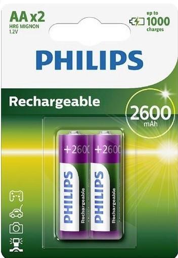 Batéria Philips R6 NM mignom 2600h 2BL