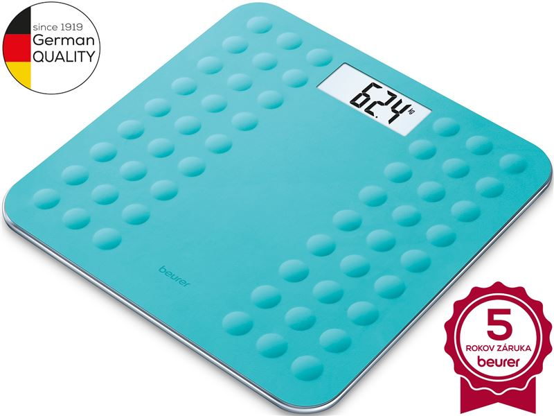 Digitálna osobná váha BEURER GS 300 Turquois