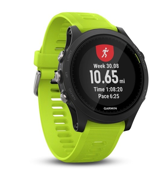 Garmin Forerunner 935 Black Tri-Bundle, Yellow band