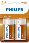 "Batéria Philips LONGLIFE R20 1.5V ""BLIS_new"