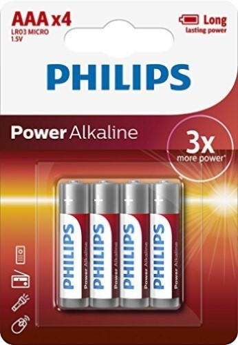 "Batéria Philips Power akaline LR03 1.5V ""AAA alk PB"
