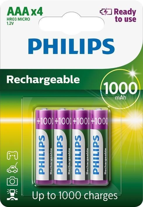 "Batéria Philips R03 B4 1000mAh      ""BLIS"