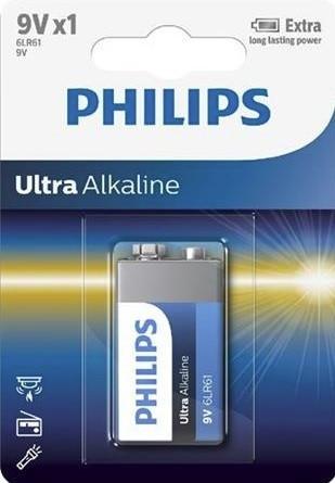 Batéria Philips ULTRA ALKALINE 6LR61 9V