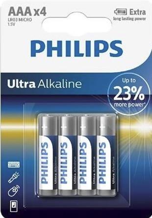 Batéria Philips ULTRA ALKALINE LR03-P4