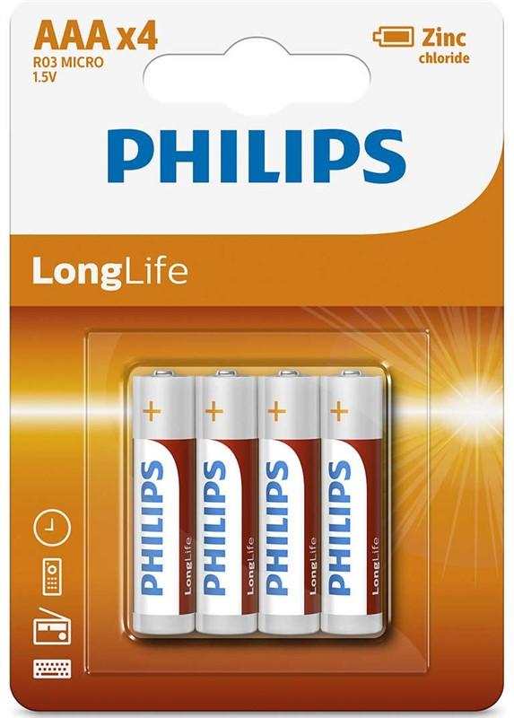 """Batéria Philips LONGLIFE R03 1.5V  """"BLIS"""