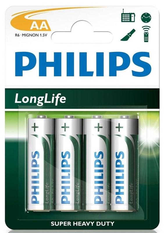 """Batéria Philips LONGLIFE R6 1.5V   """"BLIS"""