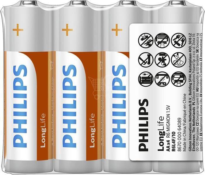 """Batéria Philips LONGLIFE R6 1.5V   """"TRAY"""