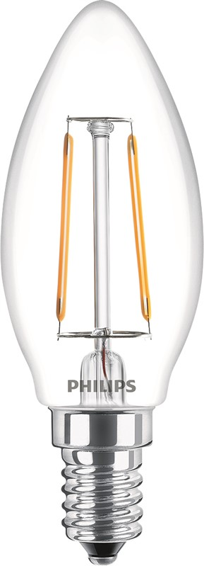 Philips LEDCandle ND 2.3-25W E14 WW B35 CL Filament