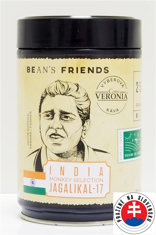 Káva Veronia India Monkey Selektion
