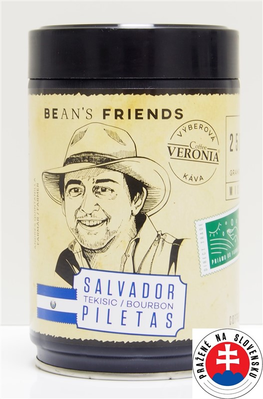 Káva Veronia Salvador Bourbon Piletas
